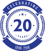 Philip Watkins 20 year logo